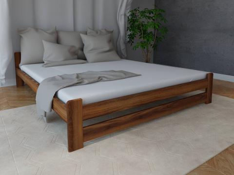 łóżko Sypialniane Drewniane Diana Z Materacem