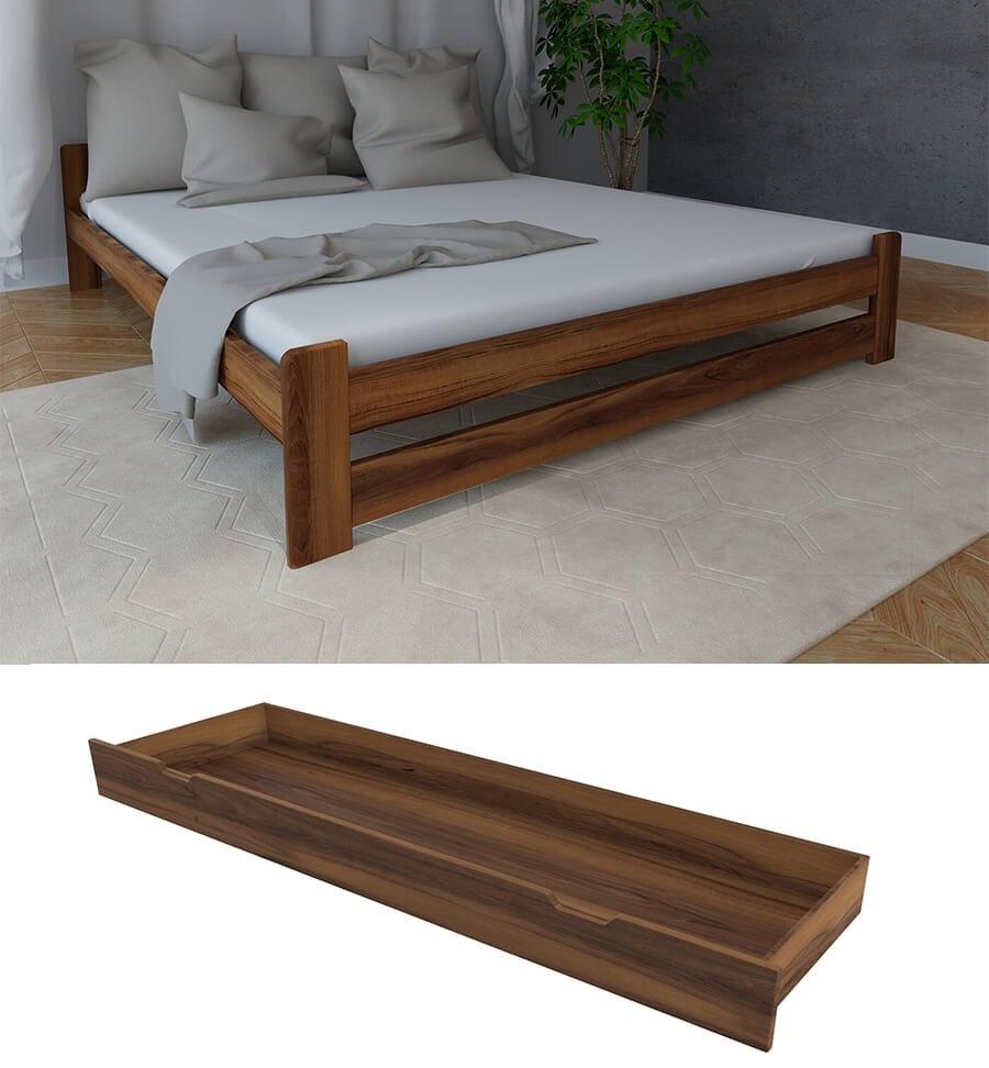 łóżko Do Sypialni Z Szufladą I Materacem Diana